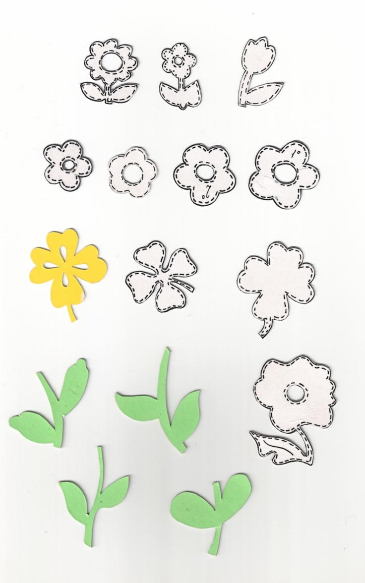 flores moldes