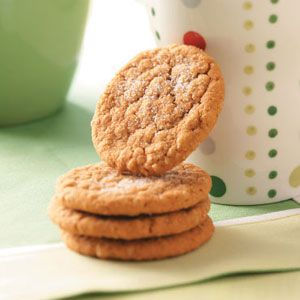 Oatmeal Gingersnaps Recipe from Taste of Home -- shared by Sherry Harke of South Bend, Indiana