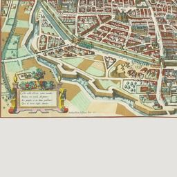 "The plan de Mérian is a ""bird's eye view"" map of Paris, France, in direction of east, with perspective created in 1615. Created by Matthäus Merian."