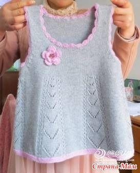Теплые сарафаны для девочек (подборка) - Вязание - Страна Мам