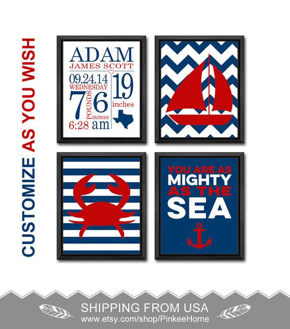 180 best baby birth wall art birts stats art images on pinterest nautical baby boy birth stats nautical nursery art birth announcement crab nursery birth print nautical personalized baby decor baby print by pinkeehome negle Gallery