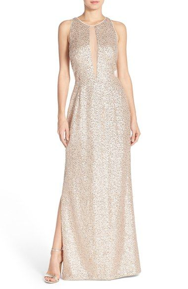 Aidan by Aidan Mattox Sequin Mesh Gown available at #Nordstrom