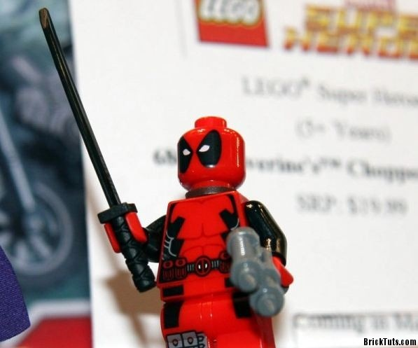 Holy cow. Official LEGO Deadpool!