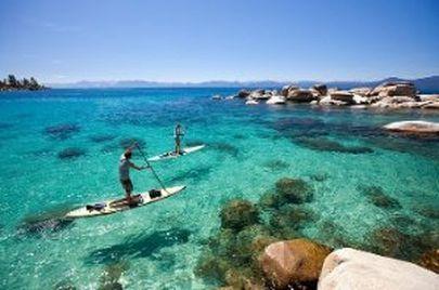 SUP Tahoe - gorgeous water!