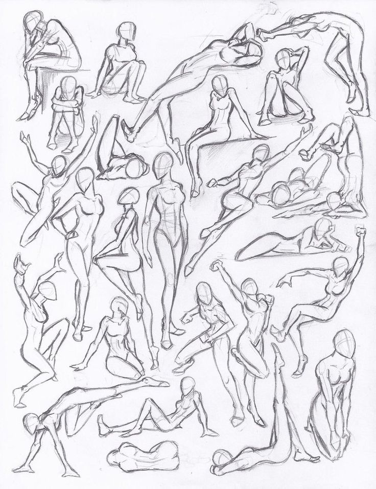 Examples of action poses. Figure drawing studies - poses by NeoLupeTrooper9893