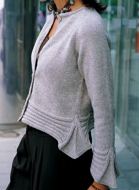 Bergere de France Cardigan Knitting Pattern 662