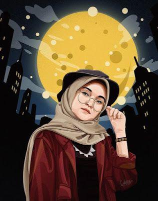 Gambar Kartun Wanita Muslimah Berhijab Terbaru in 2020 ...