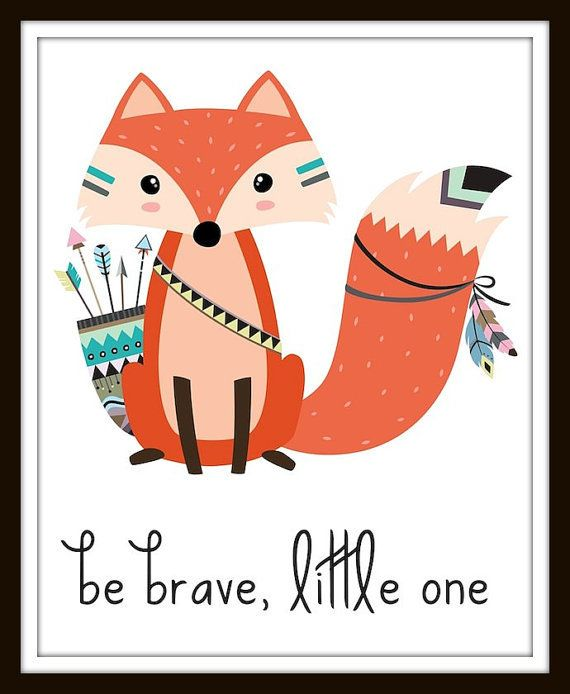 Be Brave Print, Tribal Nursery Prints, Tribal Nursery Digital Prints, Be Brave, Be Brave Little One, Be Brave Little One Printable
