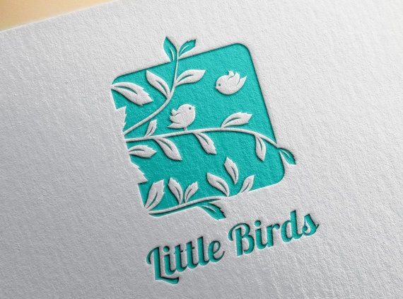 Little Birds Logo Template Baby Logo Design Children by RageRabbit