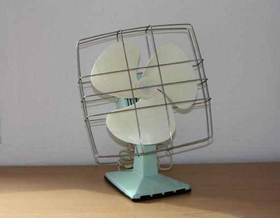 Ventilateur vintage Calor vert menthe eau 1960 , oscillant, en état de marche, ventilo, climatiseur d'été, chaleur été
