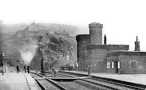 The original Woodhead Station in the early 20th century