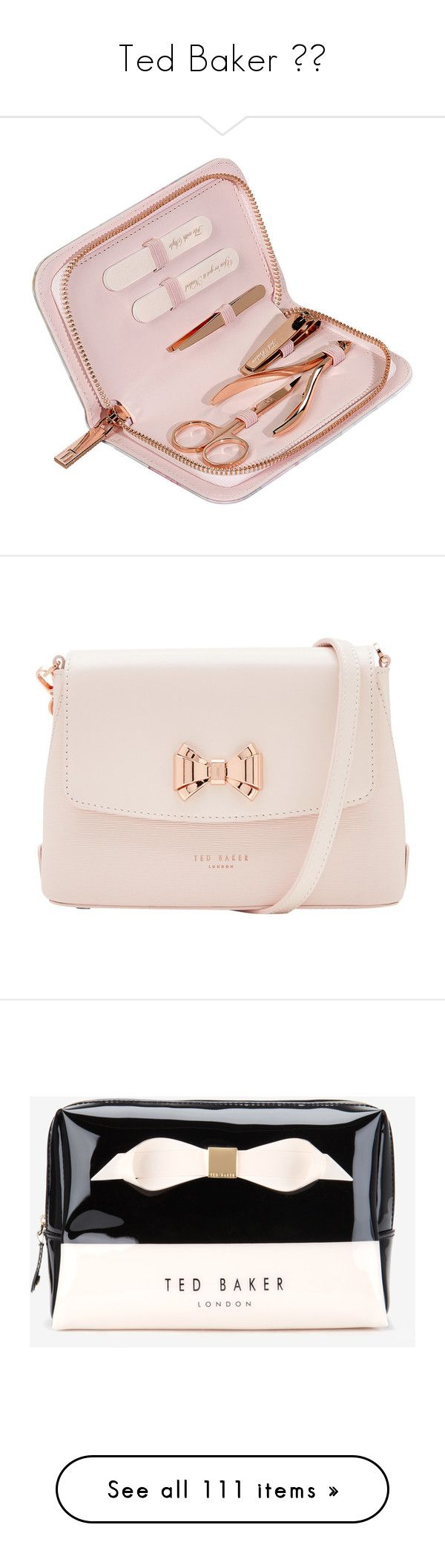 """""""Ted Baker 👜💲"""" by faanciella ❤ liked on Polyvore featuring beauty products, nail care, manicure tools, accessories, beauty, filler, white, manicure and pedicure kit, ted baker and manicure pedicure kit"""