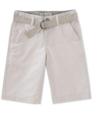 Calvin Klein Chambray Shorts, Little Boys (2-7) - Tan/Beige 7