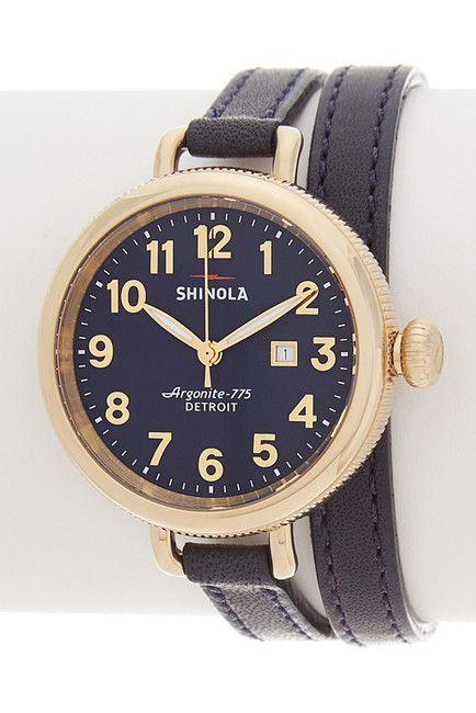 Shinola Women's The BirdyLeather Strap Watch 525/260