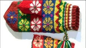 Samiskt vantmönster. Saami mittens.