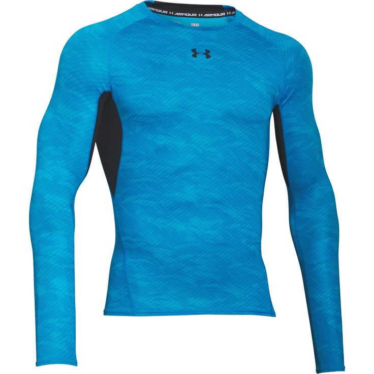 The Under Armour HeatGear Armour Printed Mens Long Sleeve Compression Base Layer Shirt is a graphic update on a classic long sleeve baselayer with the same standout technology with aprinted detail so your ceompetitiors tan double take when you are working out. The compression fit delivers a locked-in feel to improve your circulation for a boost in performance. The soft HeatGear fabric wicks sweat to keep you cooler, lighter, and drier while the Moisture Transport System wicks sweat from skin