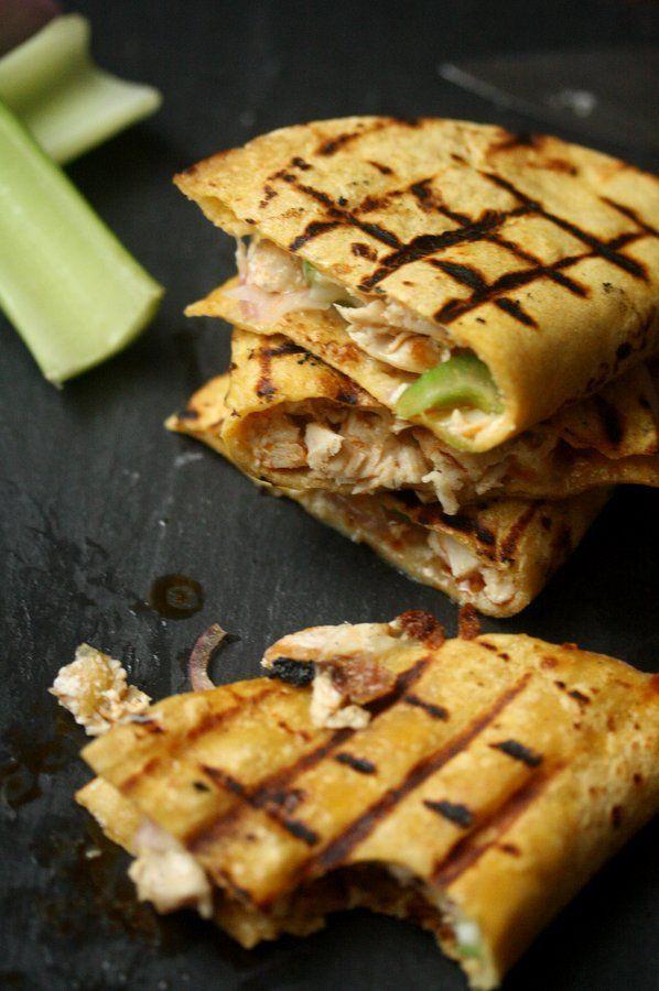 Easy Grilled Buffalo Chicken Quesadillas | Gluten-Free, Healthy Recipe