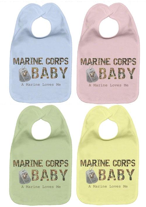 Marine Corps Baby fleece bib