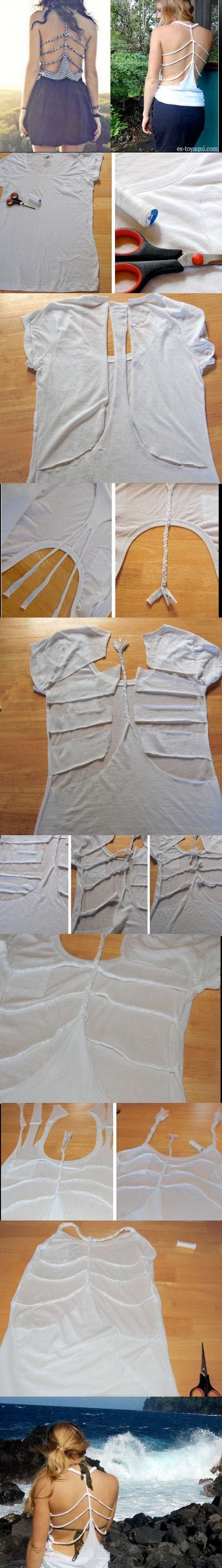 braided shirt how to