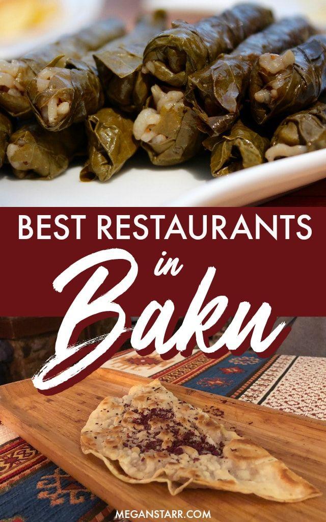 10 Best Restaurants In Baku Azerbaijan For Tasty Traditional Food Baku Restaurant Baku Azerbaijan Travel