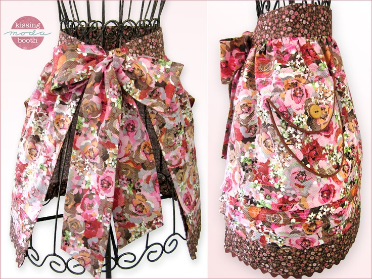 Kissing Booth Double Layer Half Apron with Pockets, Tucks & More | Sew4Home