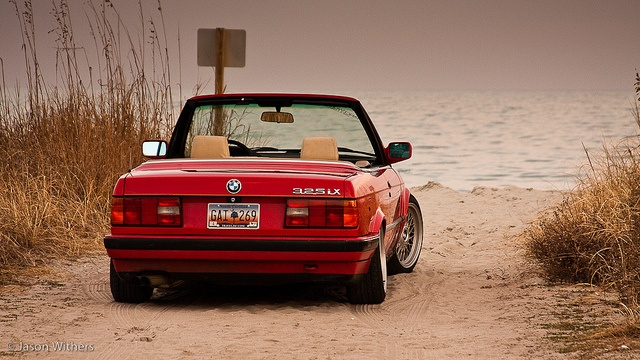 E30 Convertible at the beach.