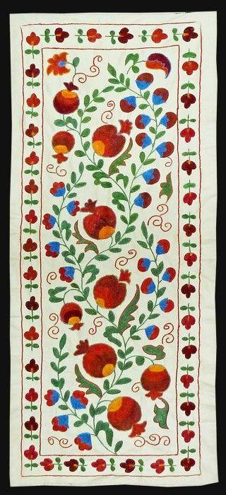 Asia - Uzbekistan, suzani, silk embroidery