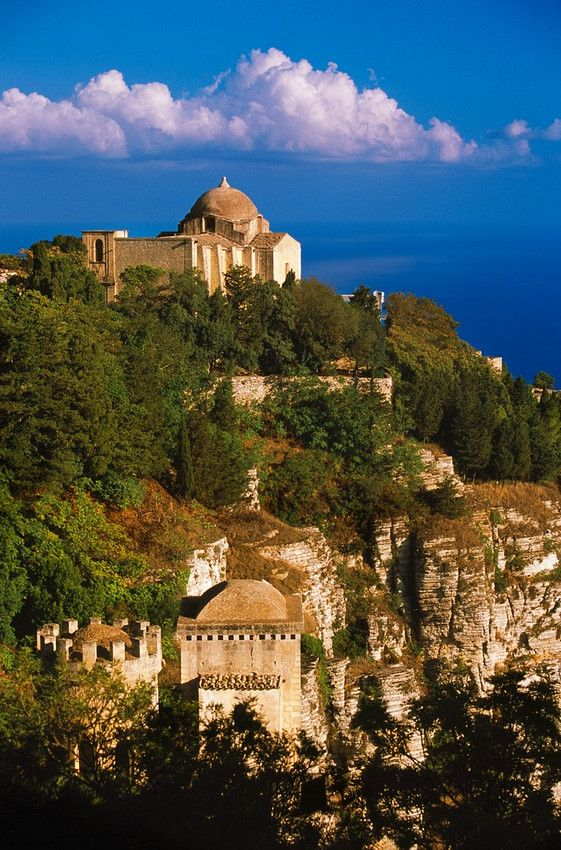 The medieval town of Erice, Sicily, Italy