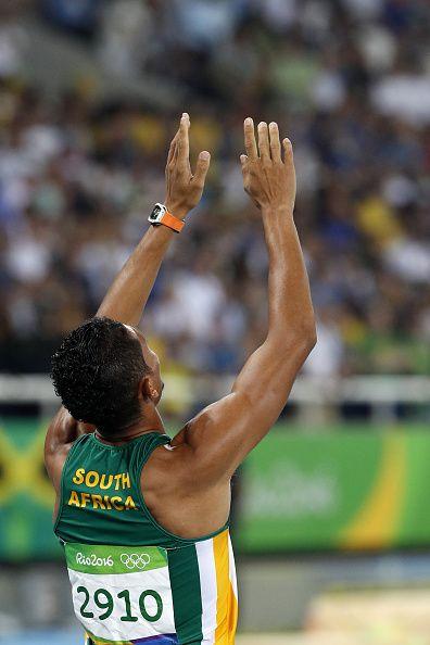 South Africa's Wayde van Niekerk celebrates winning the Men's 400m Final during…