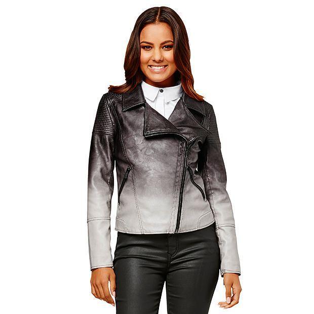 Dannii Minogue Petites Faux Leather Biker Jacket | Target Australia