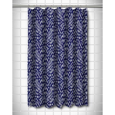 Lovely Island Girl Home Hipster Navy Shower Curtain