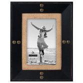 Found it at Wayfair - Nailhead Burlap Picture Frame