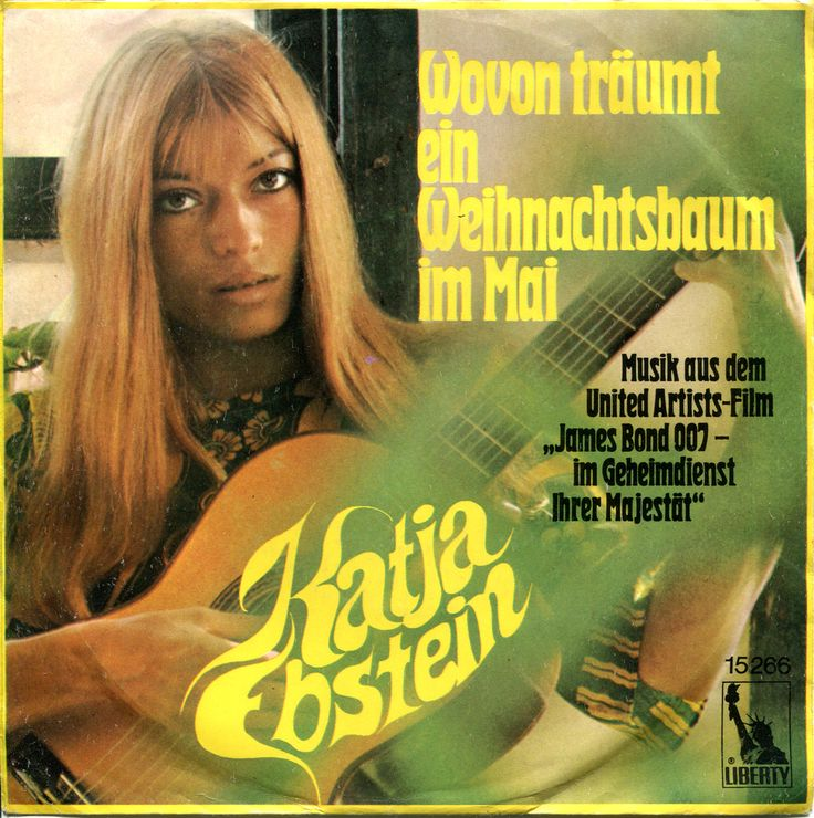 Artist: Katja Ebstein Original Release Title: Im Geheimdienst Ihrer Majestät (On Her Majesty's Secret Service) Country: Germany  Format: 45RPM  Release Date: 1970  Label: Liberty 15 266
