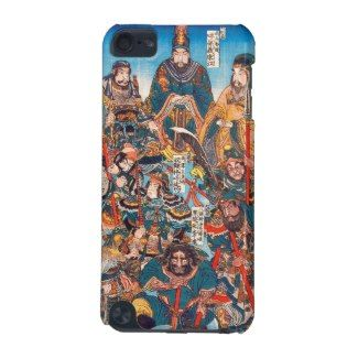 Utagawa Kuniyoshi Legendary Suikoden heroes iPod Touch 5G Cover #kuniyoshi #legendary #heroes #warrior #samurai #general #Suikoden #Japan #japanese #custom #gift #oriental #myth