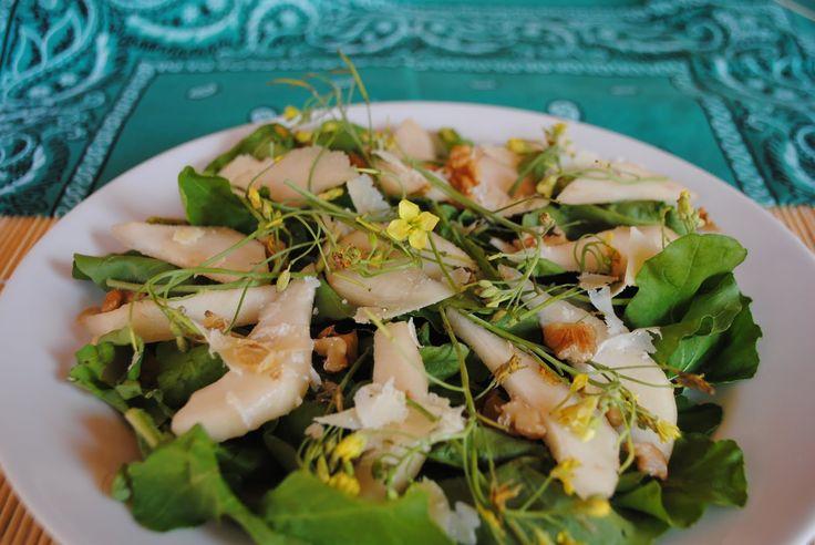 Salada de Rúcula, Peras e Queijo Azul