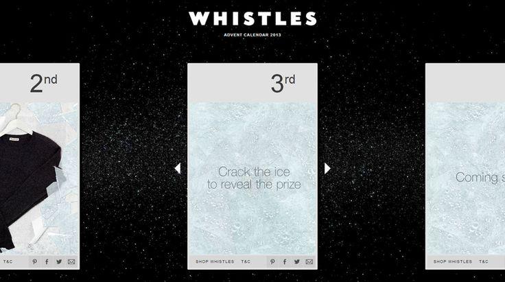 Whistles - advent calendar