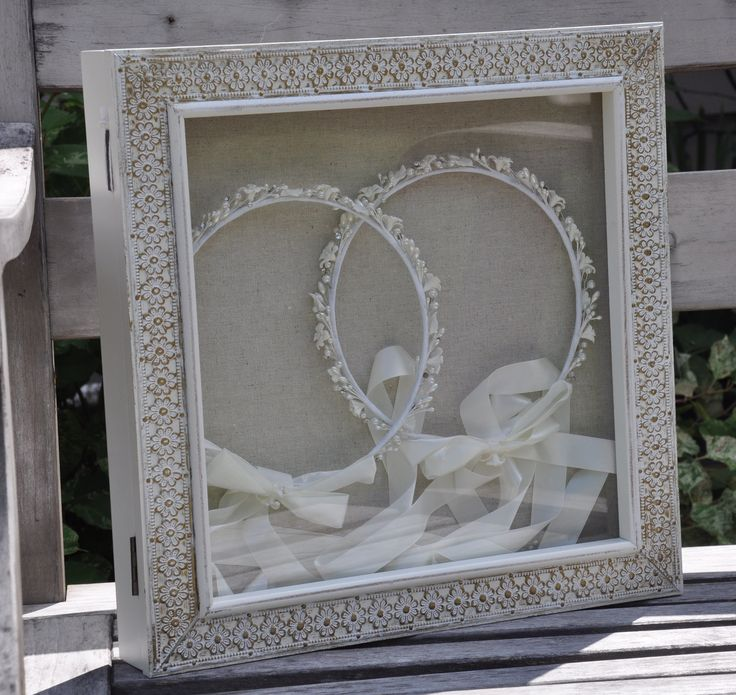 Wedding Crown display box-stefanothiki.   Hangs on the wall.