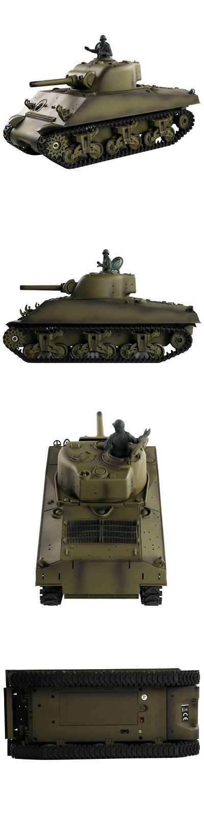 Tanks and Military Vehicles 45986: Costzon 1:16 2.4G Us M4a3 Sherman Rc Tank W Smoke And Sound Radio Remote Control -> BUY IT NOW ONLY: $118.19 on eBay!