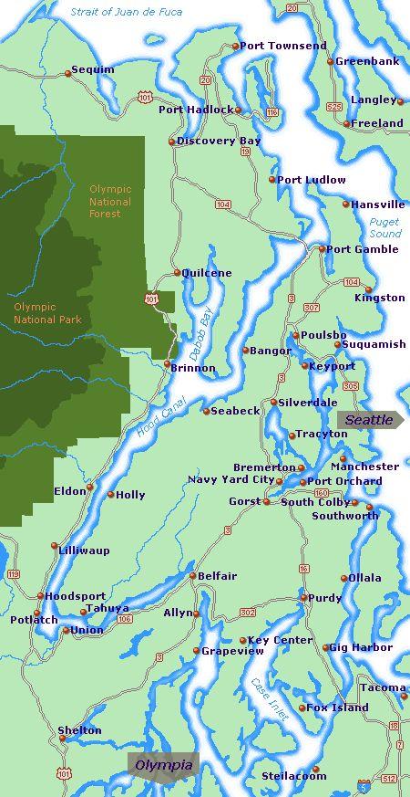 Hood Canal Map