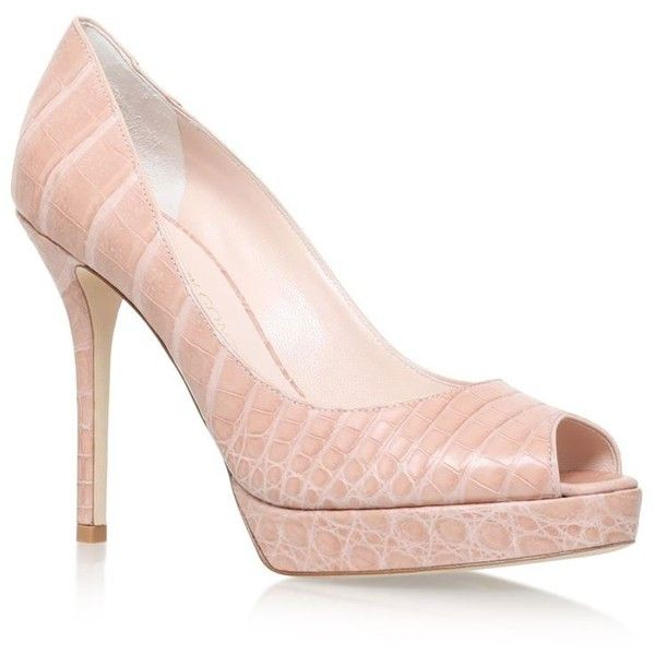 Nancy Gonzalez Ms. G Peep Toe Pumps ($3,050) ❤ liked on Polyvore featuring shoes, pumps, platform stiletto pumps, peep-toe shoes, stiletto pumps, peep toe platform shoes and peep toe platform pumps