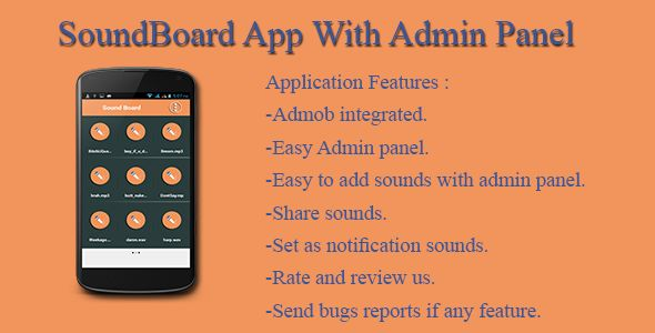 SoundBoard App With Admin Panel - http://wareznulled.com/soundboard-app-with-admin-panel/