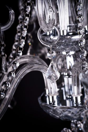 Traditional-DESIGNER-Genuine-CRYSTAL-SILVER-and-Glass-CHANDELIER