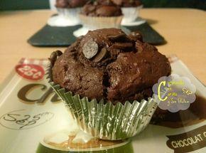 Muffins Chocolatosos Sin Gluten http://cocinandoconcarinoysingluten.blogspot.com.es/2014/03/muffins-chocolatosos-sin-gluten.html