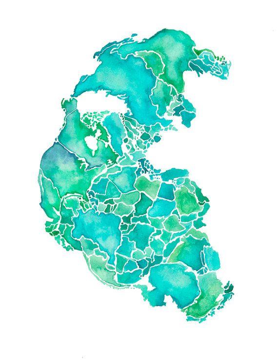 color palette  Pangaea Print