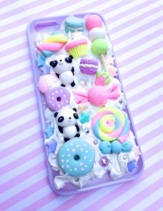 Kawaii Panda Pastel iPhone 5/5s Case by TheLittlePocketTM on Etsy, $26.99