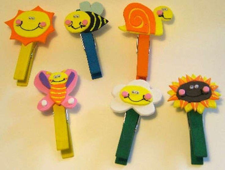 Lavoretti per bambini per l'estate - Mollette decorate