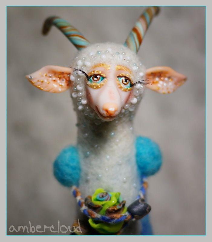 Козочка Изабель *** doll, dollart, hand made, ©ambercloud, авторская кукла