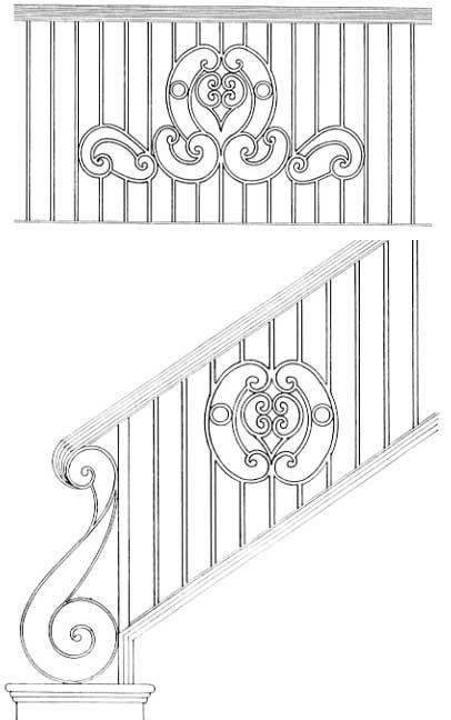 Stair Railing Designs ISR403