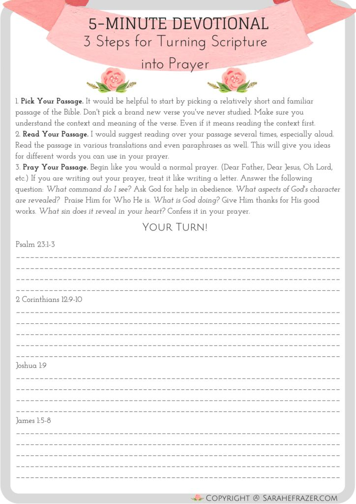Printable devotionals for teens theme interesting