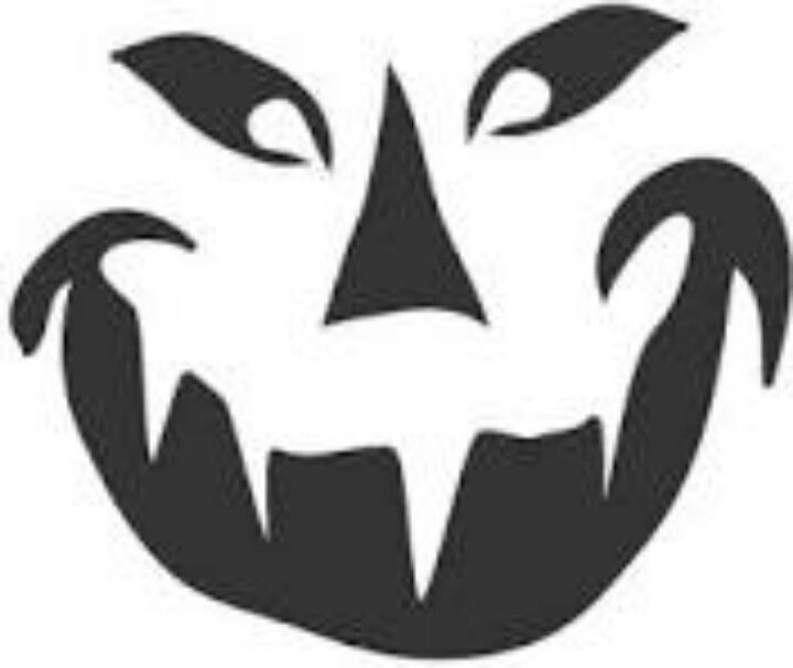 Pumpkin stencil halloween pinterest pumpkin carving for Small halloween pumpkin templates